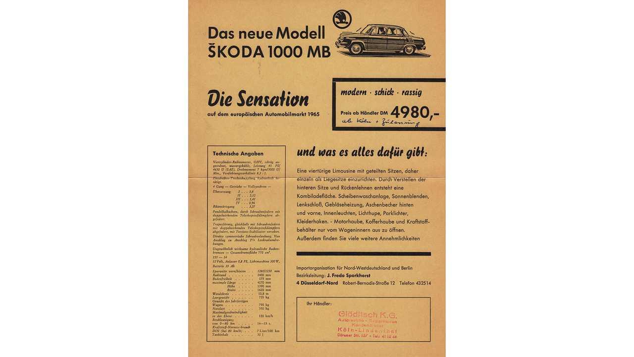 55 Jahre Škoda 1000 MB
