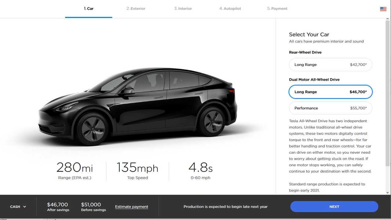 Tesla Model Y US-Preise (18.03.2019)