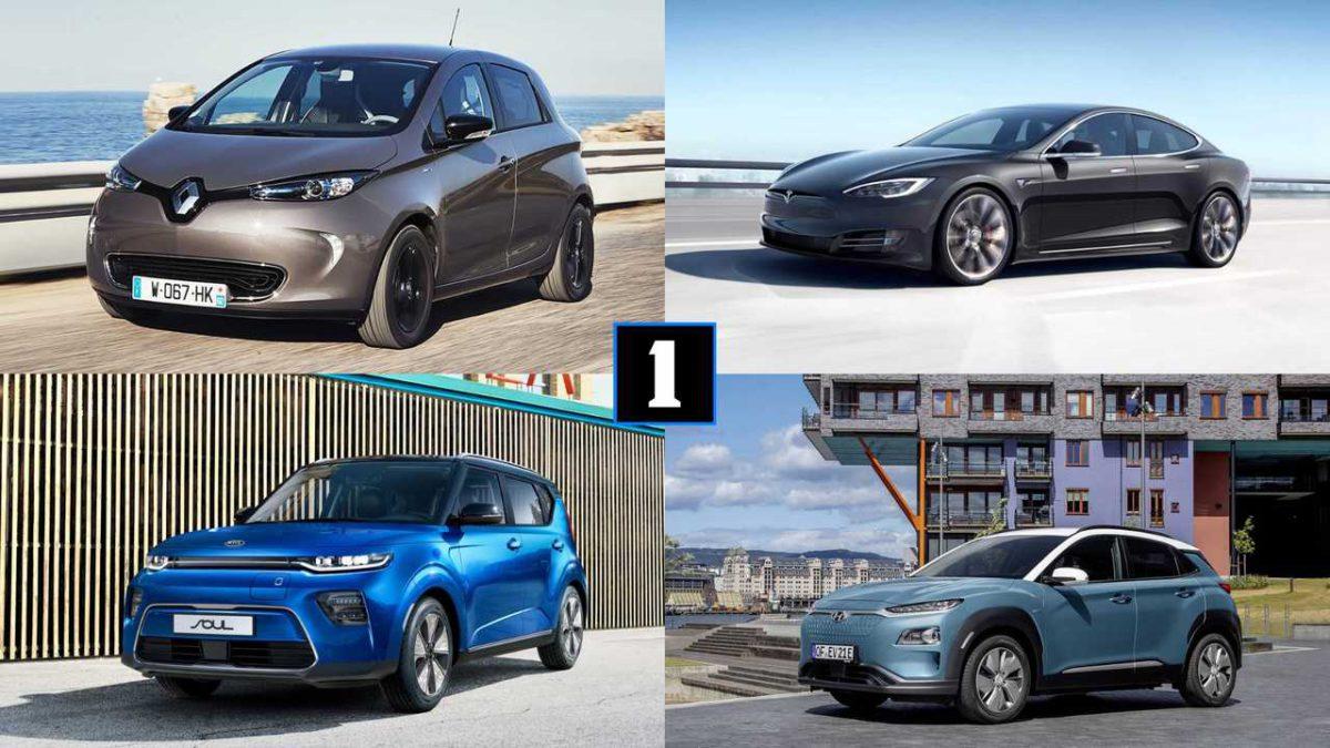 Электромобили 2019: Все модели (incl. новый Renault Zoe)