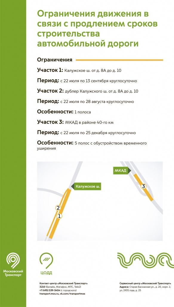 ограничения на Калужском шоссе