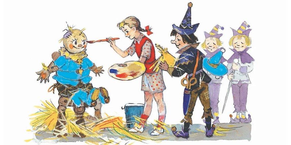 Иллюстрация Л. Владимирского из книги ««Волшебник Изумрудного города»