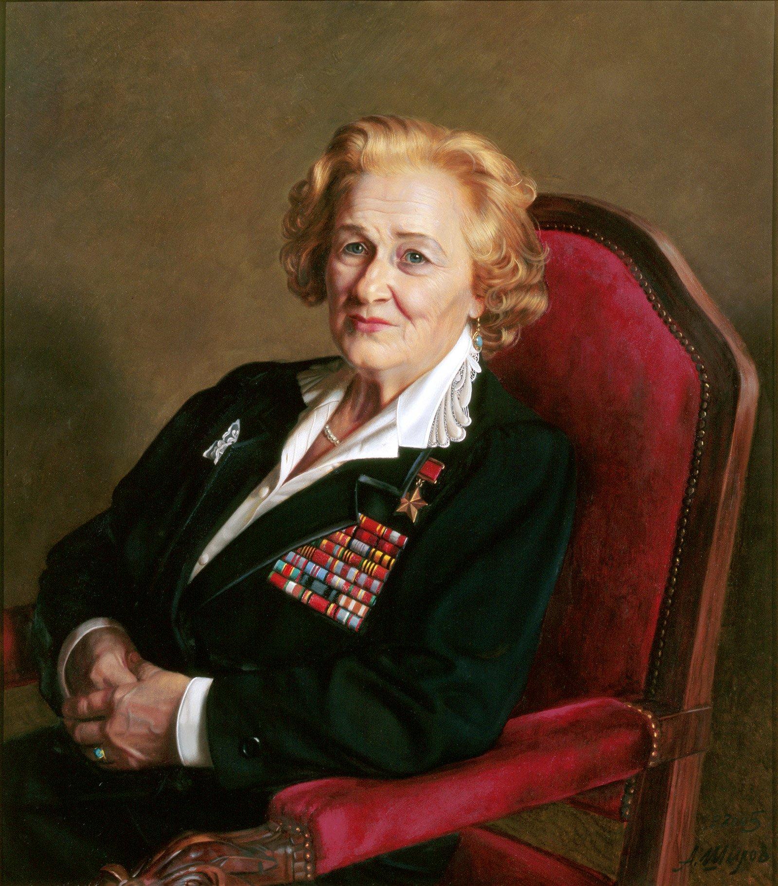 А. Шилов. Портрет Надежды Поповой. 2005 год