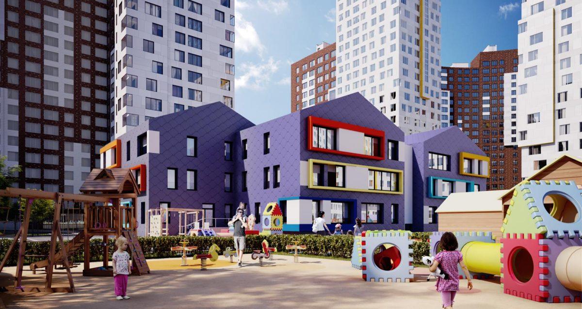 В ЖК «Румянцево-Парк» полностью завершены монолитные работы по детскому саду