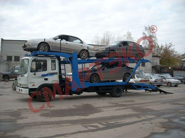 Эвакуатор-автовоз двухуровневый Шасси Hyundai HD-120 Extra Long