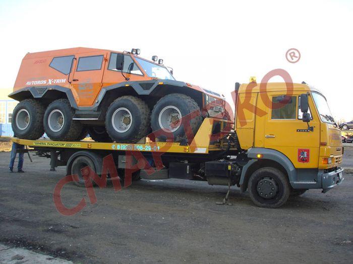Эвакуатор со сдвижной платформой КАМАЗ-4308 гп 4150 кг