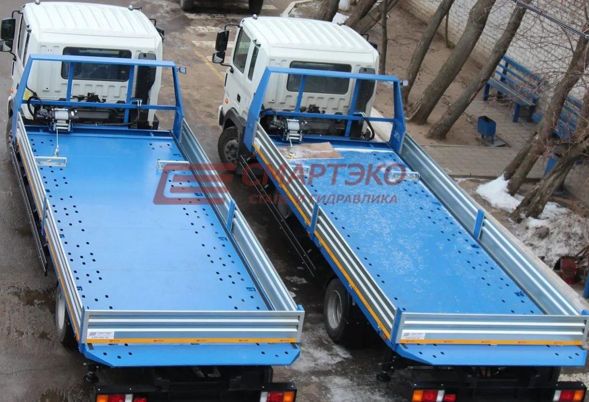 Эвакуатор со сдвижной платформой на шасси Hyundai HD-120 Ultra Long