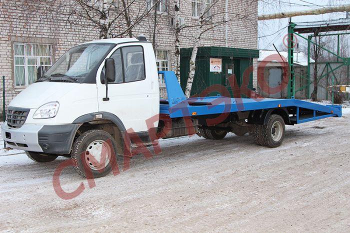 Эвакуатор с ломаной платформой ГАЗ-33106 (удлиненная платформа)