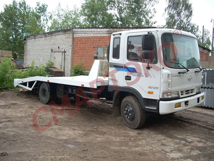 Эвакуатор с ломаной платформой Hyundai HD-120 Extra Long