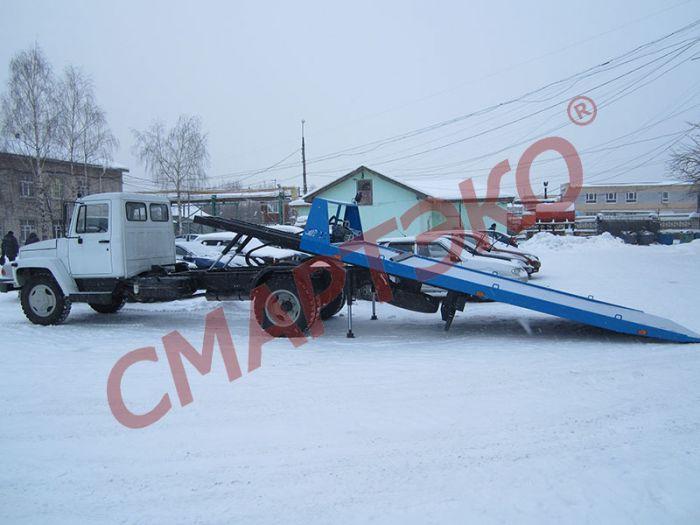 Эвакуатор со сдвижной платформой ГАЗ-3309 г/п 3,0т