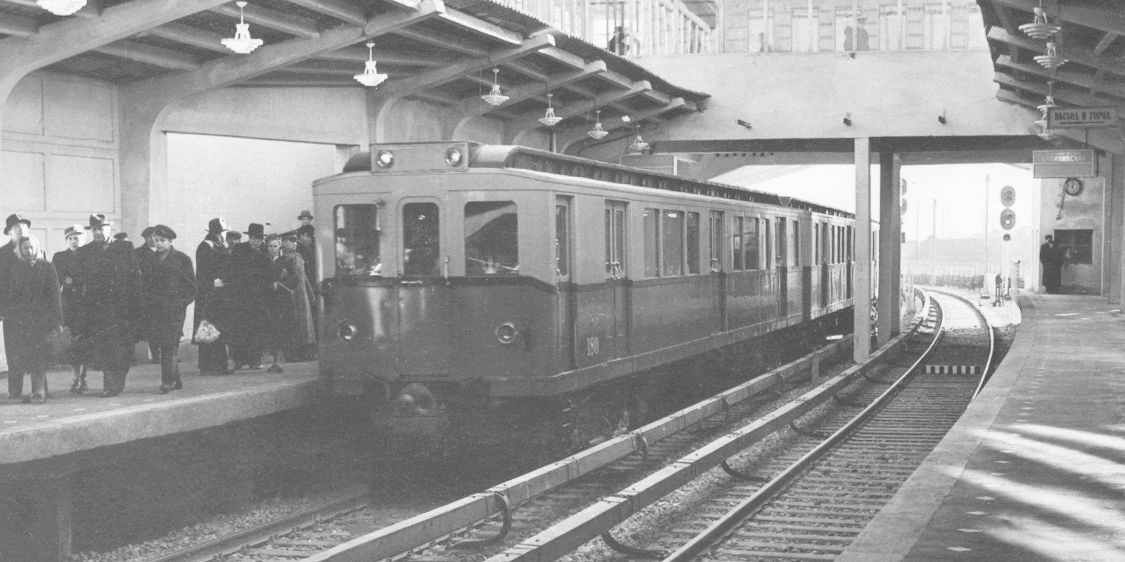 Станция «Кутузовская». Автор Л. Великжанин. 09 ноября 1958 года. Главархив Москвы