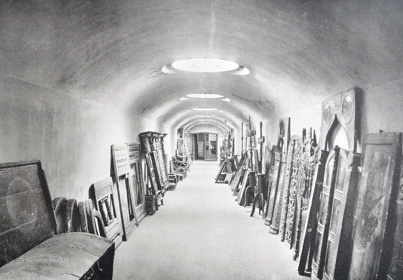 Тоннель с входом в новый музей. 1906 год
