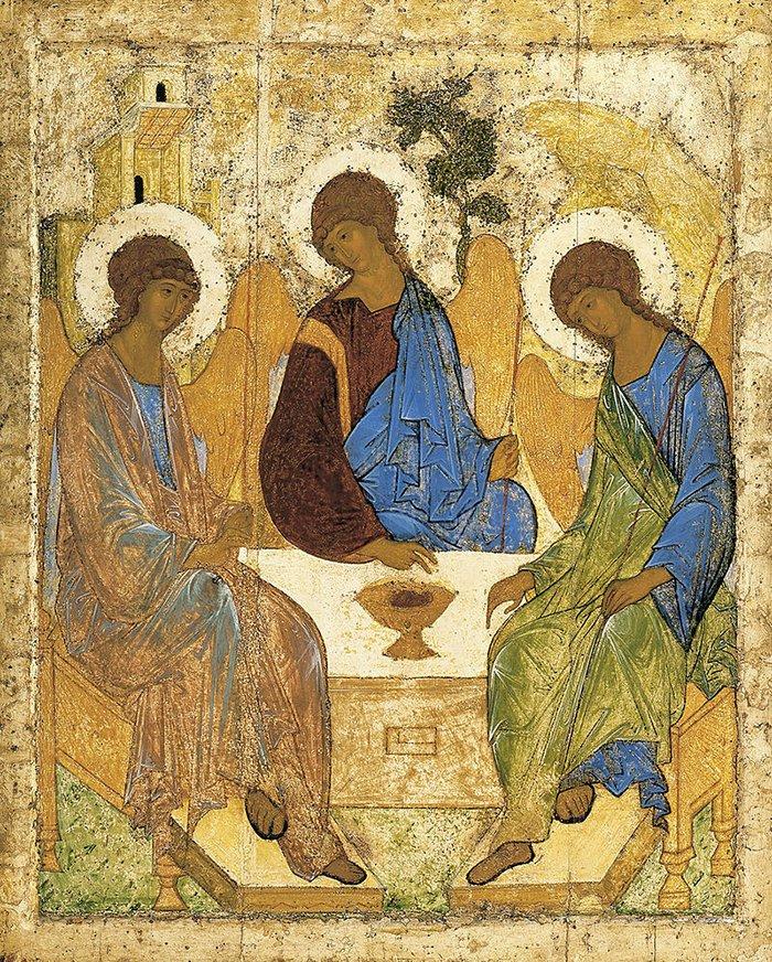 А. Рублев. Святая Троица. 1411 год