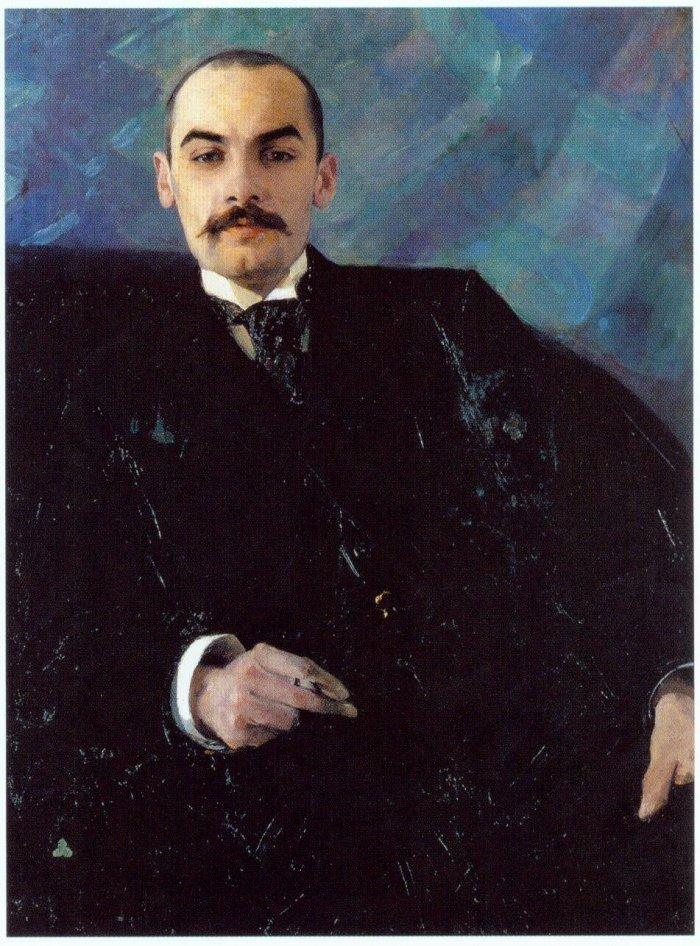 А. Головин. Портрет Александра Карзинкина. 1890-е годы