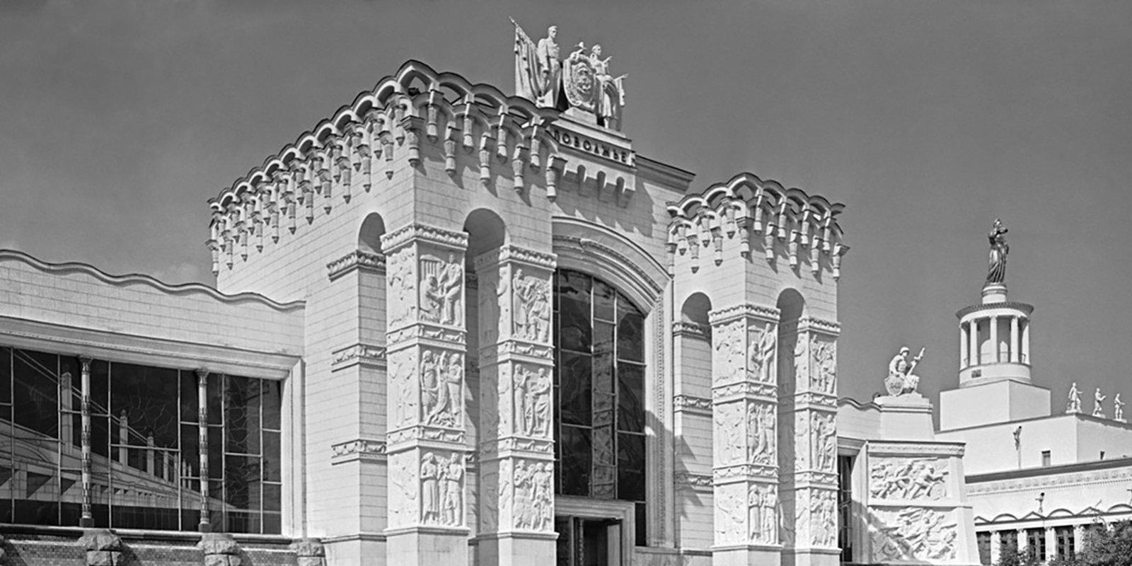 Павильон «Поволжье». Автор Н. Грановский. Июнь 1956 года. Главархив Москвы