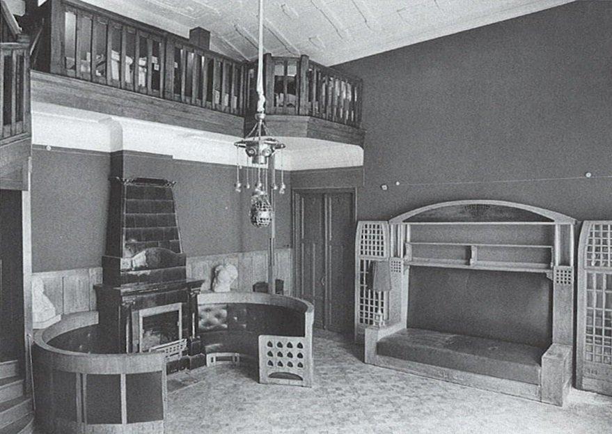 Денежный переулок. Бывшая адвокатская гостиная, в которой размещался читальный зал. Главархив Москвы