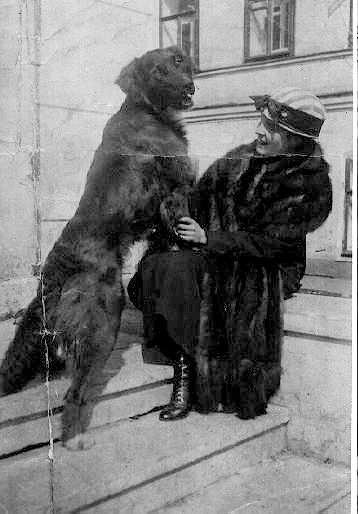 Л.Ю. Брик с собакой Щеником. Из собрания Государственного музея В.В. Маяковского