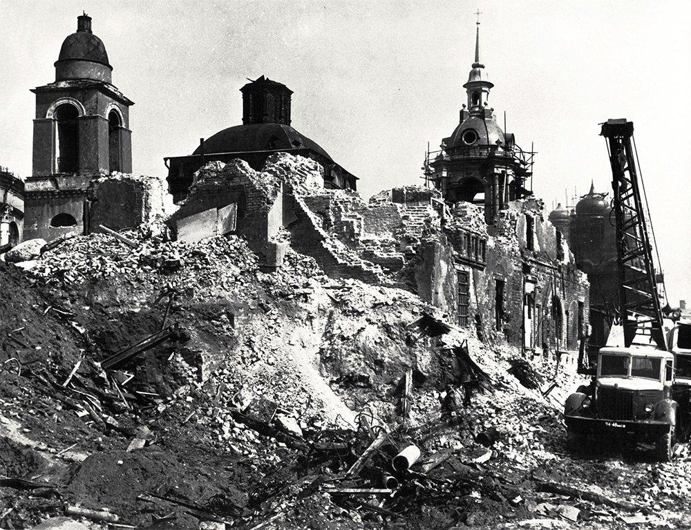 Реставрация. 1960-е годы. Фото: Музей Москвы