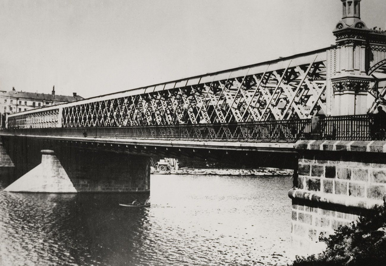 Старый Крымский мост. Автор Н. Грановский. 1920-е годы. Главархив Москвы