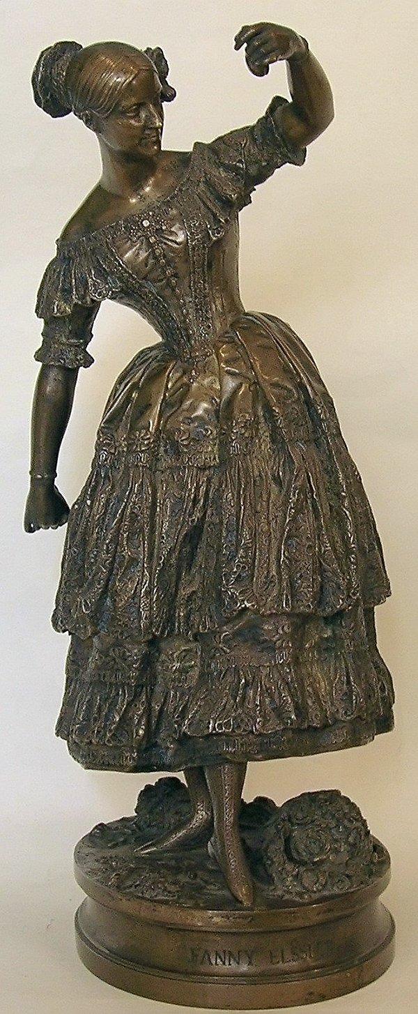 Жан-Огюст Барр. Скульптура балерины Фанни Эльслер в роли Флоринды, исполняющей танец качуча в балете «Хромой бес». 1837 год