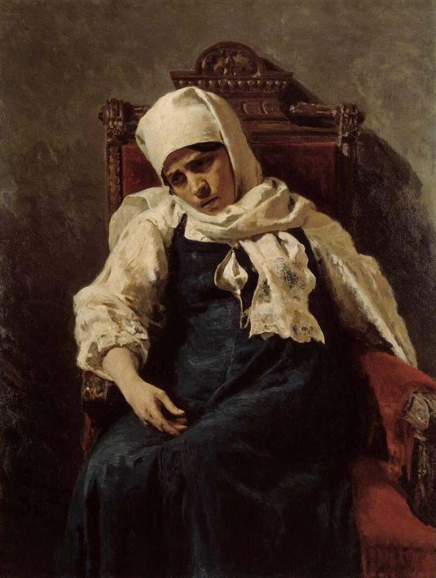 И. Репин. Портрет актрисы Пелагеи Антиповны Стрепетовой в роли Елизаветы. 1881 год