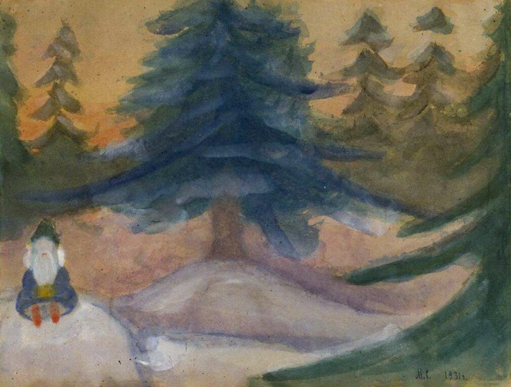 М. Скрябина. Зимний пейзаж. 1931 год