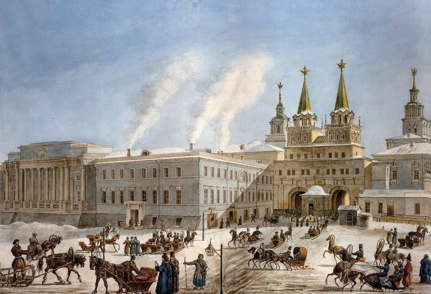 О. Кадоль. Воскресенские ворота и долговая тюрьма. 1823–1824 годы