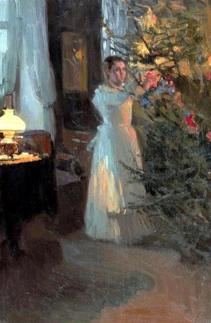 А. Корин. Рождественская елка. 1910 год