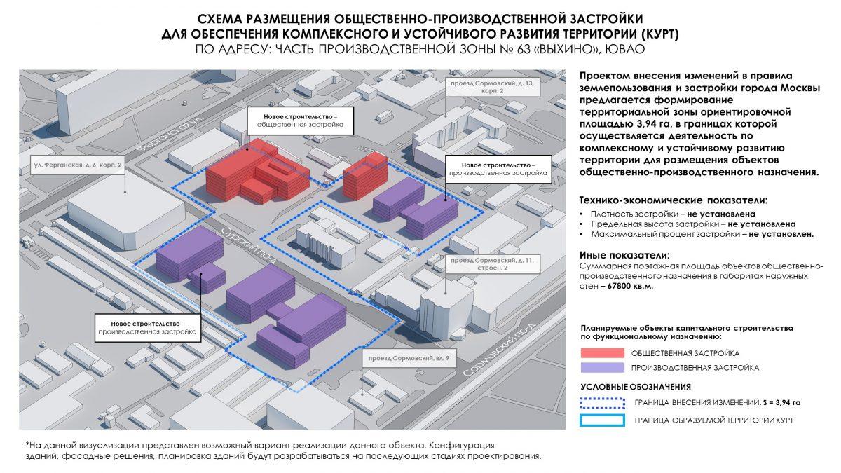 Промзону в районе Выхино-Жулебино ждет реорганизация