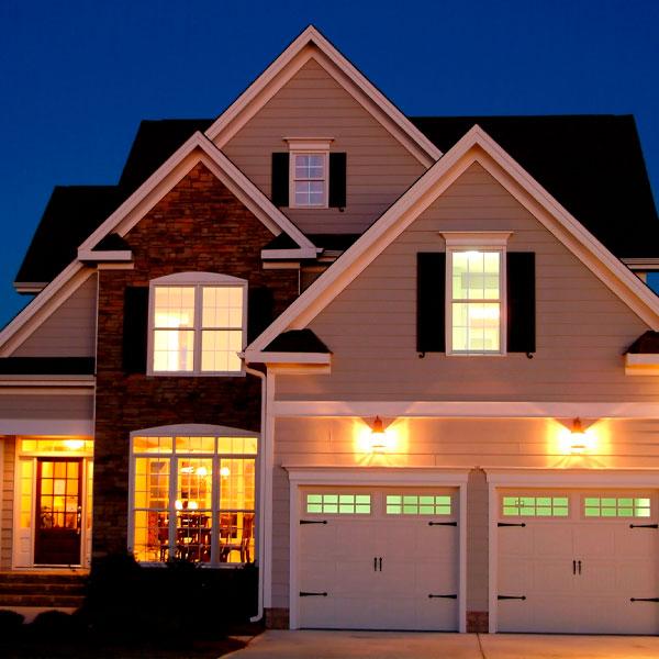 осветить дом