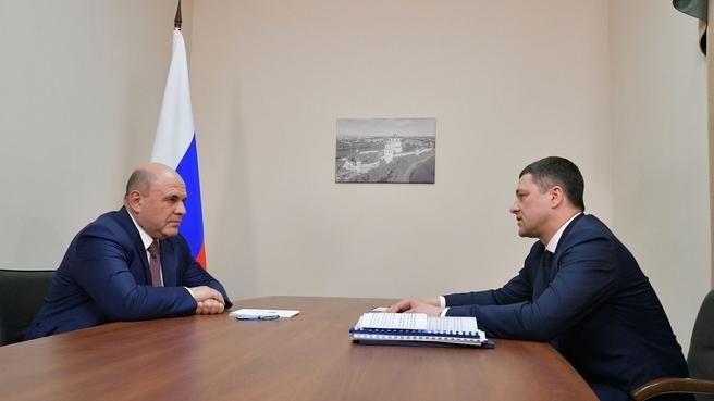 Встреча с губернатором Псковской области Михаилом Ведерниковым