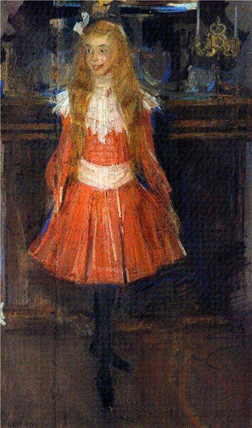 Ф. Малявин. Лисичка. Портрет А. Хохловой в детстве. 1902 год
