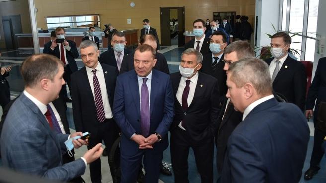 Юрий Борисов на предприятиях композитного дивизиона Росатома UMATEX в Республике Татарстан