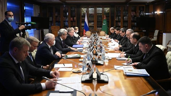 Встреча сопредседателей Межправительственной Российско-Туркменской комиссии по экономическому сотрудничеству