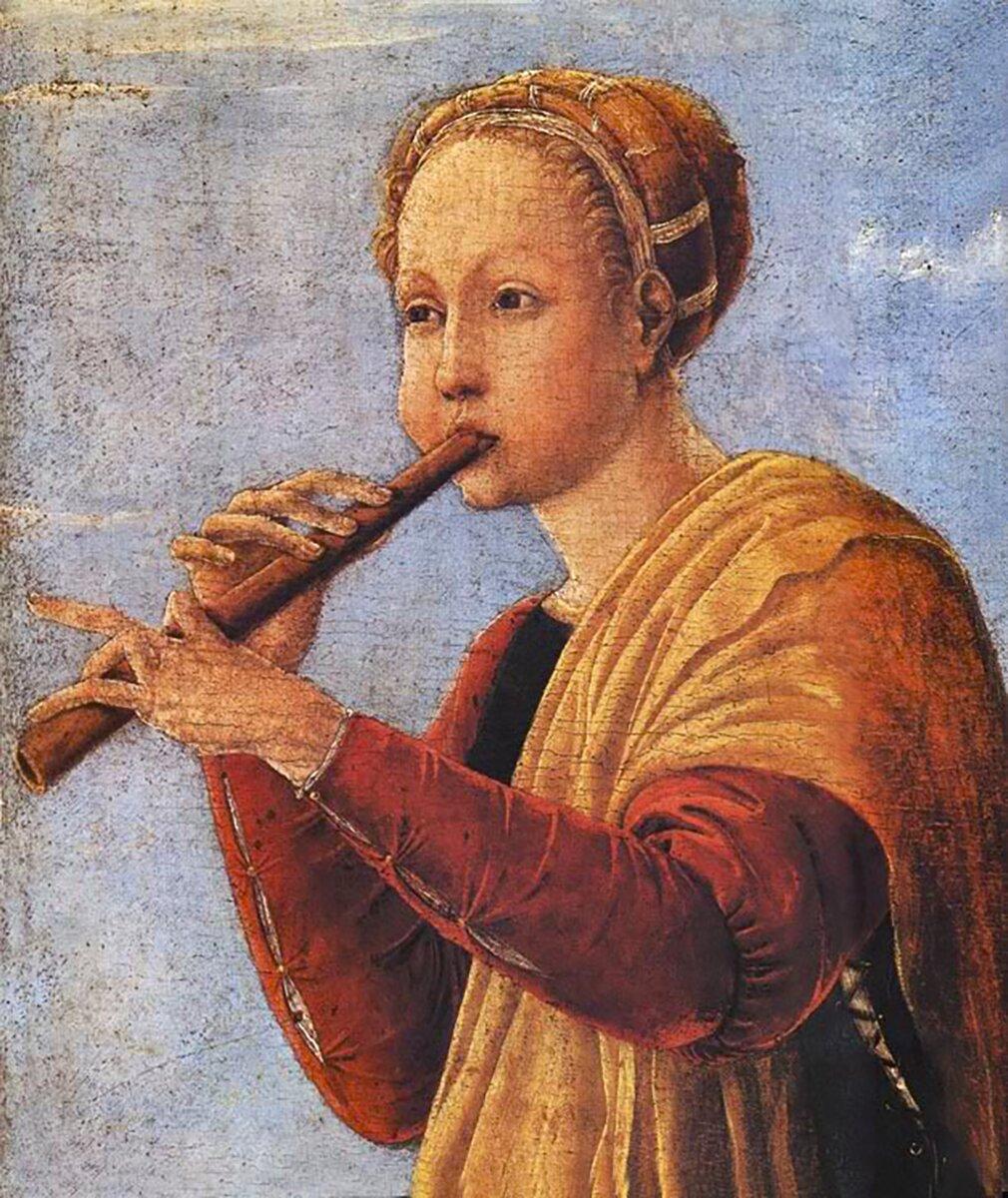 Франческо дель Косса. Муза Эвтерпа. 1460 год