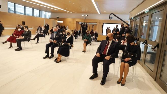 Церемония открытия после реконструкции Национальной картинной галереи в Афинах