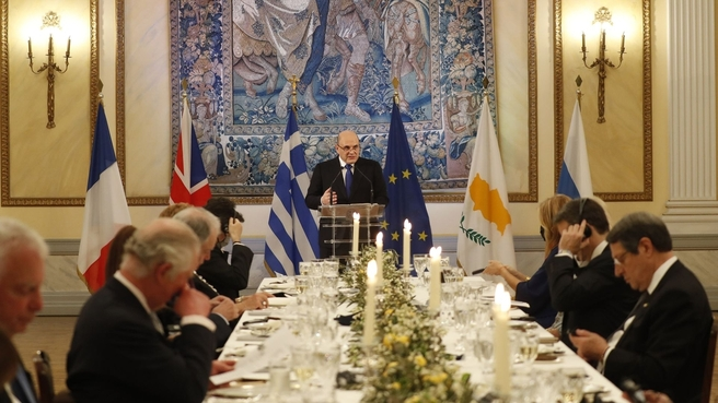 Выступление на официальном обеде от имени Президента Греции Катерины Сакелларопулу