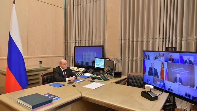 Михаил Мишустин на совещании у Президента России о мерах по стимулированию инвестиционной активности