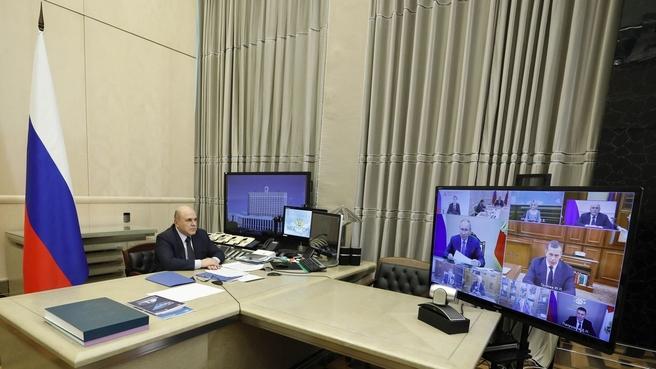 Михаил Мишустин на совещании у Президента России с членами Правительства
