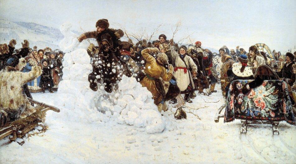 В. Суриков. Взятие снежного городка. 1891 год