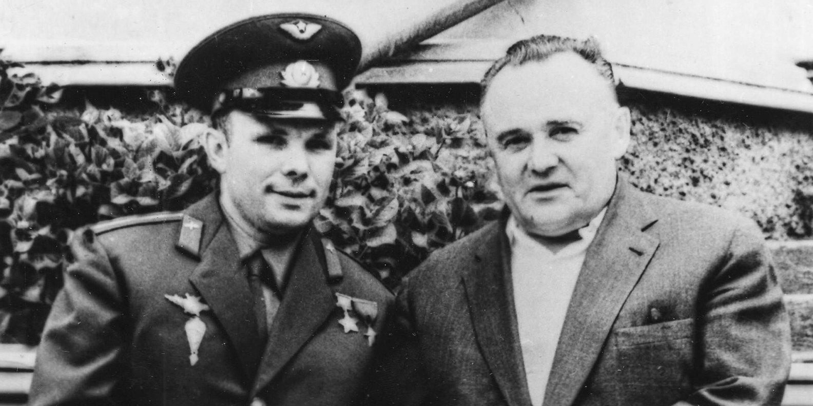 Ю.А. Гагарин и С.П. Королев. Главархив Москвы