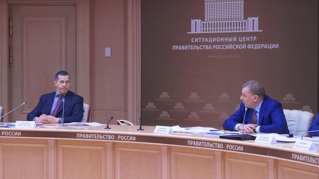 Юрий Борисов и Юрий Трутнев на совещании о развитии промышленности на Дальнем Востоке