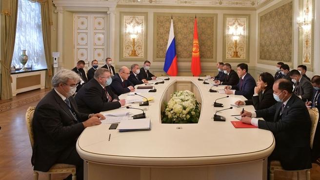 Беседа Михаила Мишустина с Премьер-министром Киргизской Республики Улукбеком Мариповым