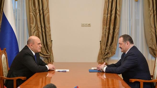 Беседа с временно исполняющим обязанности главы Республики Дагестан Сергеем Меликовым