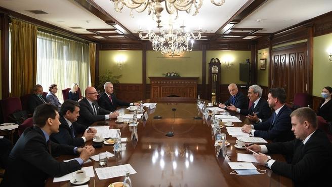 Рабочую встреча Дмитрия Чернышенко с делегацией ассоциации «SportAccord»