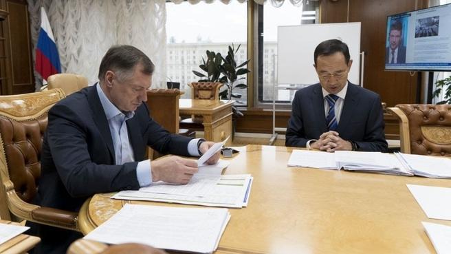 Рабочая встреча Марата Хуснуллина с главой Республики Саха (Якутия) Айсеном Николаевым