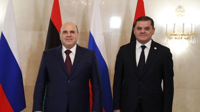 Встреча с Главой Правительства национального единства Ливии Абдельхамидом Дбейбой