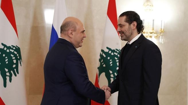 Встреча с Председателем Совета министров Ливана Саадом Харири