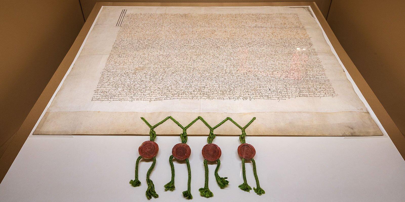 Договор, заключенный между польским королем Сигизмундом III и царем Василием Ивановичем Шуйским 20 июля 1608 года. Российский государственный архив древних актов