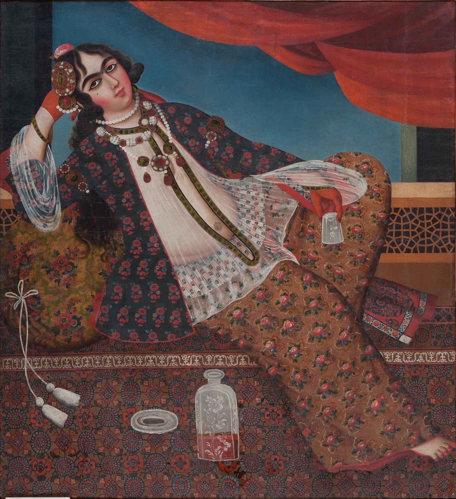 Автор неизвестен. Женщина у окна. Иран. XIX век
