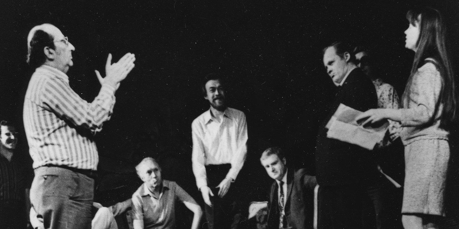 Георгий Товстоногов на репетиции спектакля «Балалайкин и К°»
